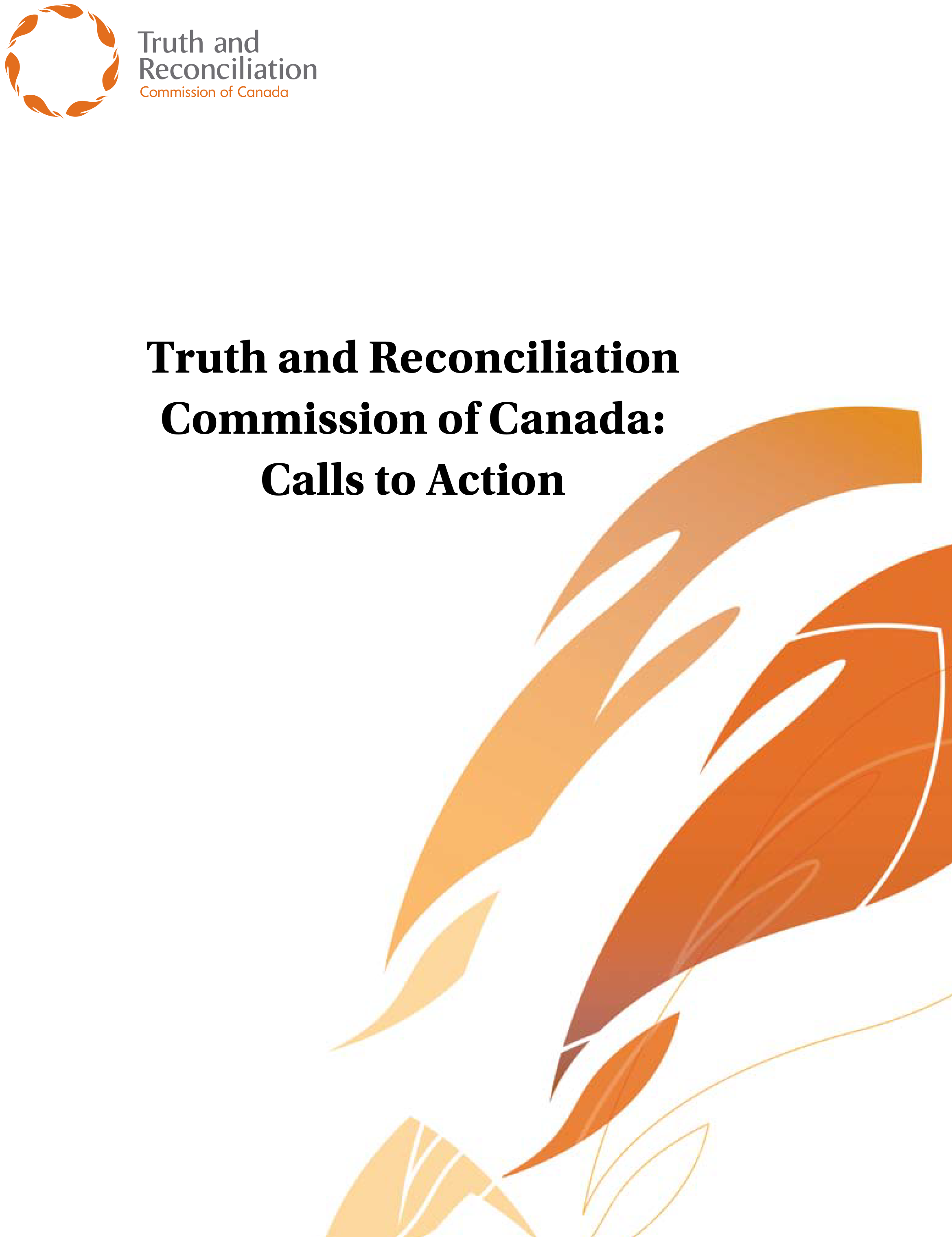 Truth and Reconciliation Commission of Canada: Calls To Action report cover