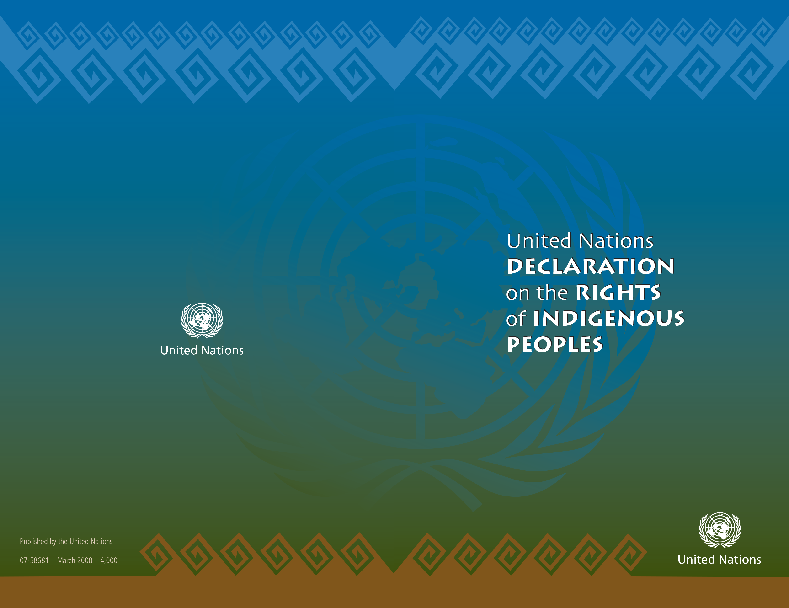 UN Declaration on the Rights of Indigenous Peoples report cover