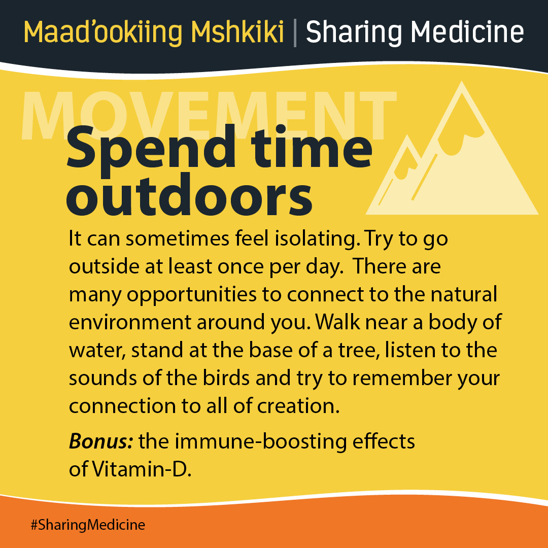 Spend time outdoors